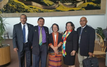 Minister Allicock meets with UN Special Rapporteur on Indigenous peoples rights
