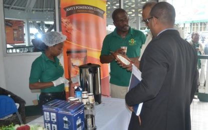 Amy's Pomeroon Foods Inc. conducts coffee tasting exercise at Agriculture Ministry  -as new Agro processing company expresses its confidence in Guyana's economy