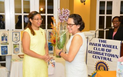 First Lady calls for more action on domestic violence  -at Inner Wheel Club induction exercise