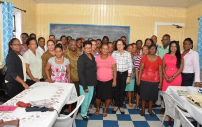 First Lady takes Self Reliance and Success in Business Workshop to Bartica