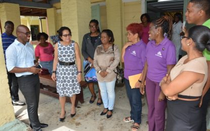 First Lady treats male residents of Palms to a 'spa' day