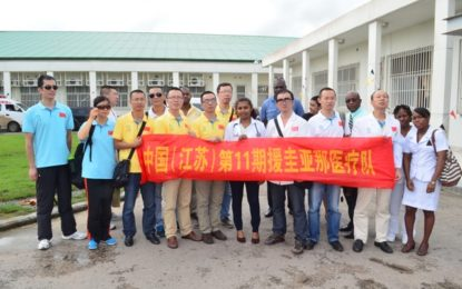 Berbicians benefit from specialised surgeries – as Chinese medical team visits