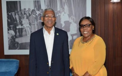 President meets new Consul General to Nickerie, Suriname  -as she prepares to embark on her new role