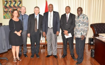 Minister Harmon meets representatives of Steiger Foundation