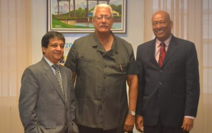 Guyana's Ambassadors to China, U.S pay courtesy call to Agriculture Minister