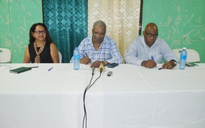 Natural Resources Parliamentary Sectoral Committee meets with Linden councillors