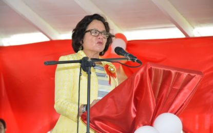 First Lady appeals to West Ruimveldt graduating pupils to make education their priority