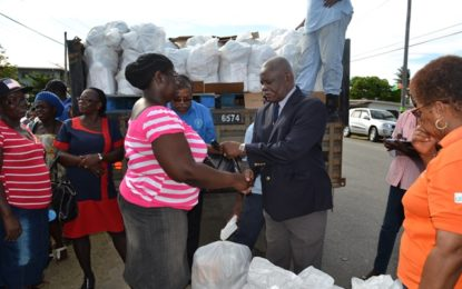 Government distributes hampers valued $9M to West Berbice flood victims