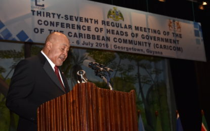 Patrick Manning hailed for integration efforts– as CARICOM 37th Heads meeting opens