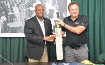 CPL donates bats, balls to promote cricket in Guyana  -Minister of State says it will foster camaraderie