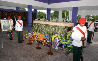 Forbes Burnham was the author of social cohesion, architect of national unity – President Granger pays tribute on the late President's 31st death anniversary