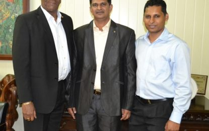 Minister Harmon receives courtesy call from TERI officials