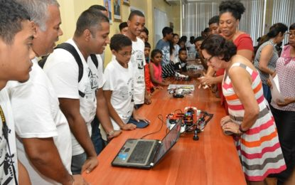First Lady pleased by massive response to Lego Robotics STEM workshop
