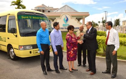 Another 'David G' bus donated to President's Granger Five Bs Initiative  – expected to be commissioned in Mabaruma