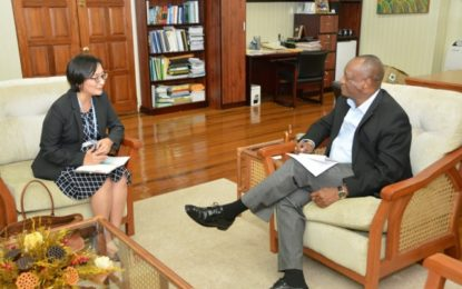 Minister Harmon meets with new UN Resident Representative to Guyana