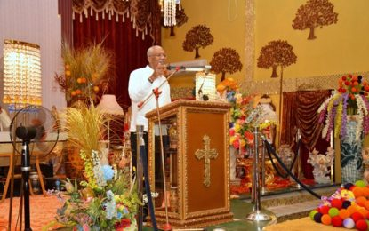 Religious organisations must do more to address social problems, foster social cohesion – President Granger tells congregation at Solomon's Temple in Berbice