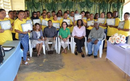 'I believe in empowering women to speak for themselves'   – First Lady tells Port Kaituma Self Reliance graduates
