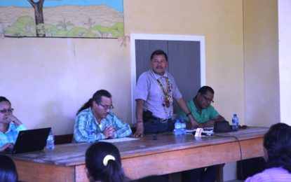 Minister Allicock continues outreach to indigenous communities – visits several in Region One