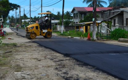 Road works on-going in Mocha