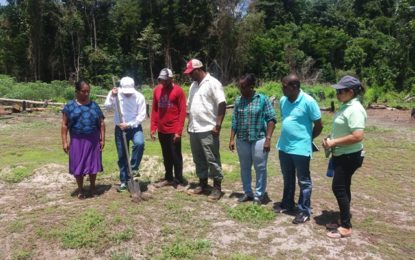 Sod turned for construction of new Health Post in Kurutuku, Region 7