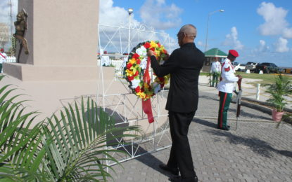 H.E President David Granger attends ceremony to commemorate the Demerara Revolt of 1823