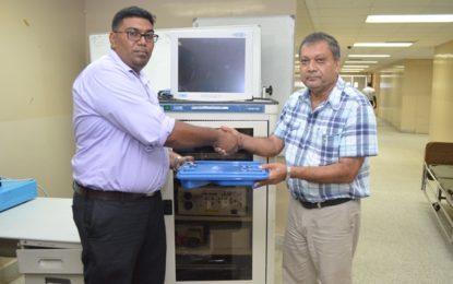 Donors gift GPHC endoscopic equipment