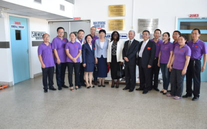 People's Republic of China handing over of equipment to the Ministry of Public Health