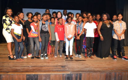 First Lady attends 'Emerge 5' at Theatre Guild