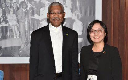 President Granger meets with new UNDP Resident Representative