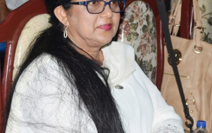 Mrs. Nagamootoo joins calls for action against suicide, domestic violence