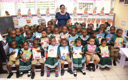 Mrs. Sita Nagamootoo, wife of Prime Minister and First Vice President Moses Nagamootoo visit to the Selman Fraser and Bel Air Nursery Schools