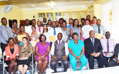 """Ministry of the Presidency – Office of Presidential Advisor on Youth Empowerment """"Financial Literacy and Small Business Training Programme Closing Ceremony"""""""