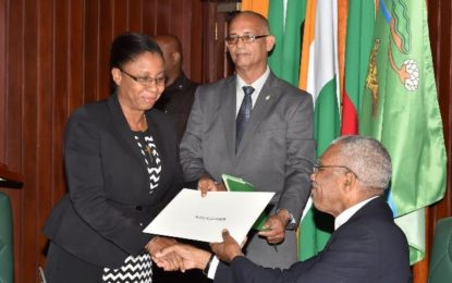 Carvil Duncan Tribunal members sworn in -President says administration committed to due process