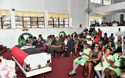 President attends funeral of slain teacher Marisha Bowen