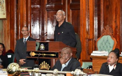 President Granger addresses Parliament