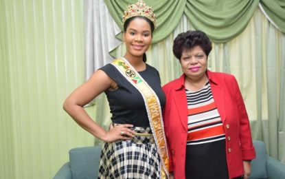 Minister Ally, Miss World Guyana 2016 discuss possible partnerships