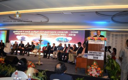 Inaugural Address by the Honourable Moses V. Nagamootoo,  Prime Minster and First Vice-President,  Cooperative Republic of Guyana  3rd World Tamils Economic Conference  Chennai, Tamil Nadu, India.