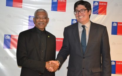 Telecommunications, mining, and trade on Chile/Guyana bilateral agenda  – President describes State visit as highly successful
