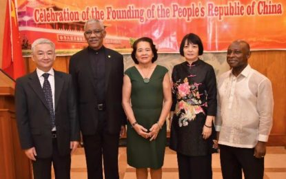 Guyana looks to strengthened relations with China particularly in 'green' development  -President Granger says at 67th Anniversary celebration of China's founding