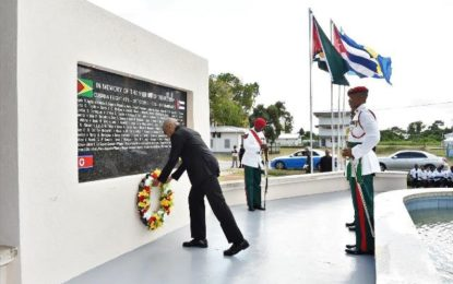 'Guyana honours the memory of its martyrs'   – President Granger at 40th anniversary of Cubana Air Disaster commemoration ceremony