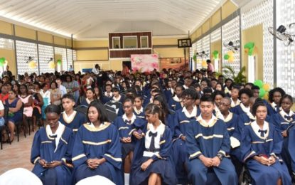 """Aim for higher education""  – President Granger tells BHS 2016 graduates"