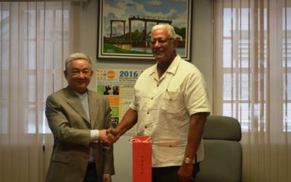 Outgoing Chinese Ambassador pays courtesy call to Agri. Minister  ; pledges China's continued support to Guyana's agriculture sector