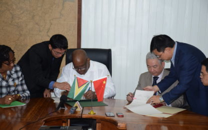 Guyana, China sign agreement for ECD road widening project