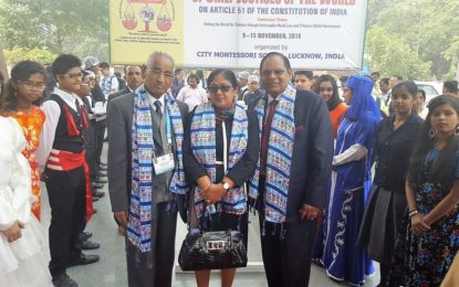 Hon. Prime Minister Moses Nagamootoo at the World Conference of Chief Justices, India