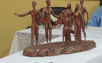Bronze statues for Palmyra Monument arrives in Guyana
