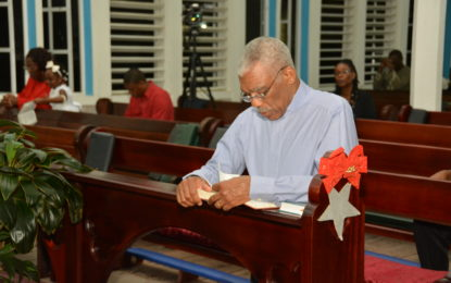 President visits Dharm Shala, maternity ward and attends church– for Christmas Day 2016
