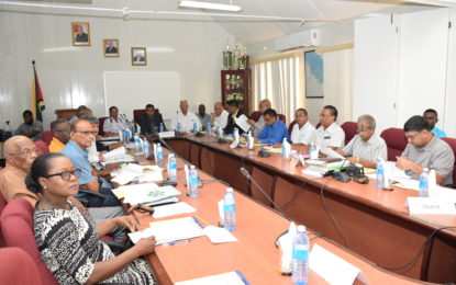 At high-level meeting on way forward for sugar industry…unions, opposition receive documentation from government