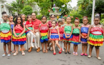 Prime Minister Moses V. Nagamootoo & Mrs. Sita Mary Nagamootoo's annual Children's Christmas Party held on the lawns of the Official Residence of the Prime Minister.