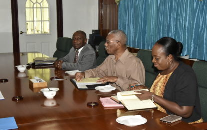 President Granger meets with CARICOM SG ahead of February inter-sessional meeting