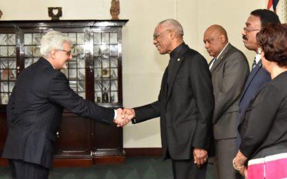 New Iranian Ambassador to Guyana accredited  -says Guyana, Iran possess great capacity to push South-South Cooperation